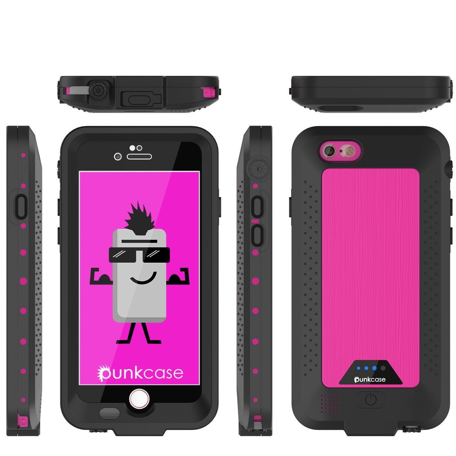 PunkJuice iPhone 6/6s Battery Case Pink Waterproof Power Juice Bank w/ 2750mAh  | Fastcharging - PunkCase NZ