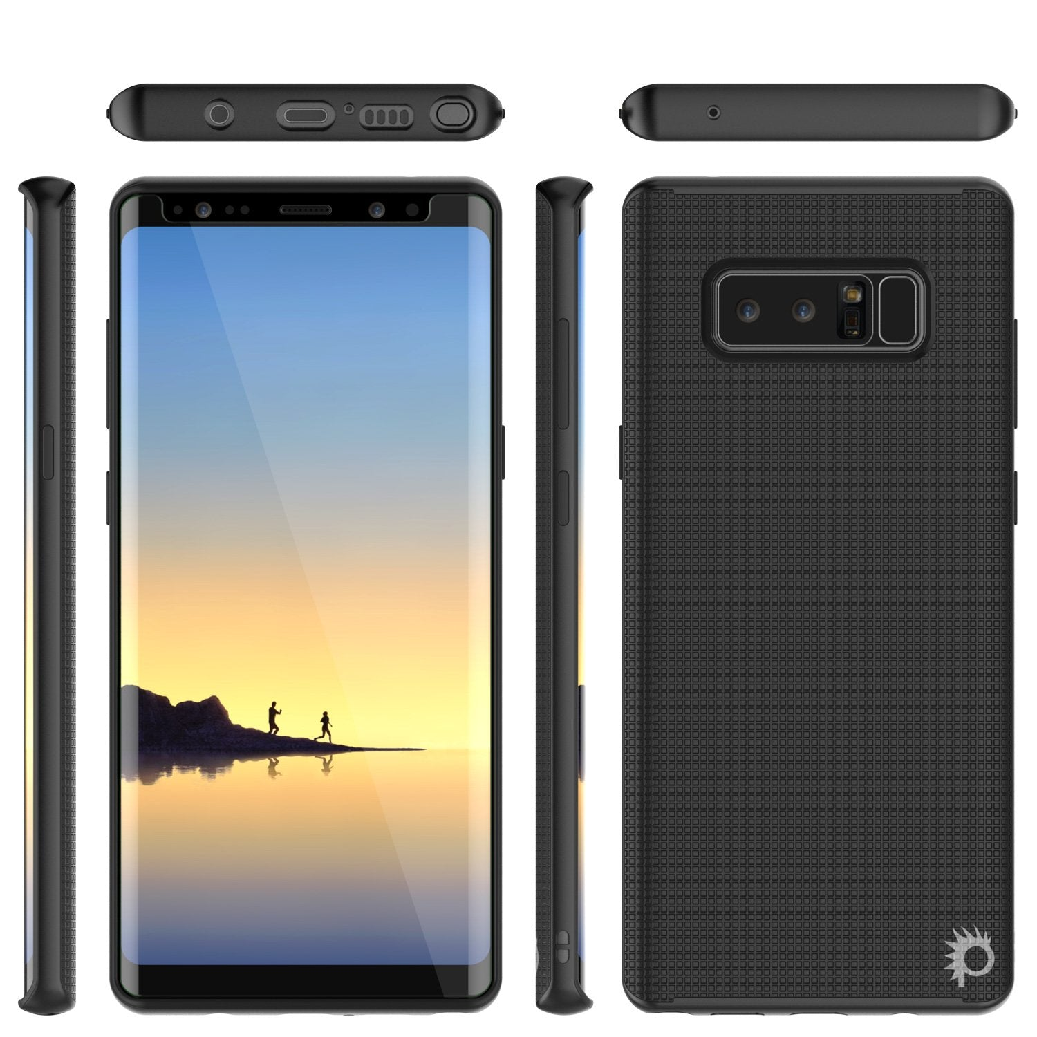 Galaxy Note 8 Case, PunkCase [Stealth Series] Hybrid 3-Piece Shockproof Dual Layer Cover [Non-Slip] [Soft TPU + PC Bumper] with PUNKSHIELD Screen Protector for Samsung Note 8 [Black] - PunkCase NZ