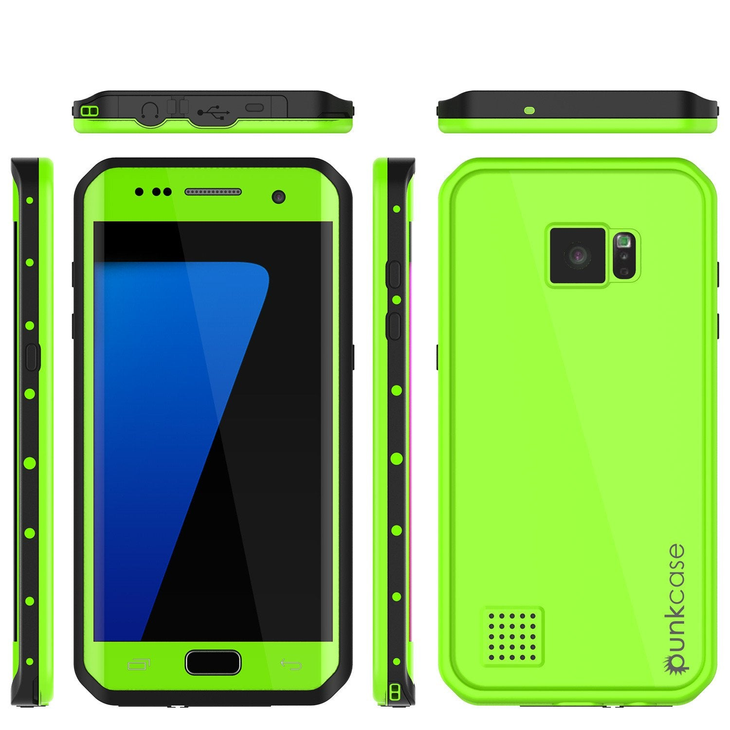 Galaxy S7 EDGE Waterproof Case PunkCase StudStar Light Green Thin 6.6ft Underwater IP68 ShockProof - PunkCase NZ