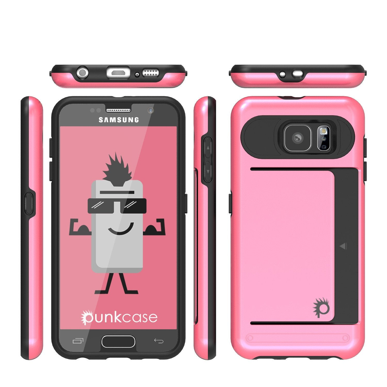 Galaxy s6 Case PunkCase CLUTCH Pink Series Slim Armor Soft Cover Case w/ Tempered Glass - PunkCase NZ
