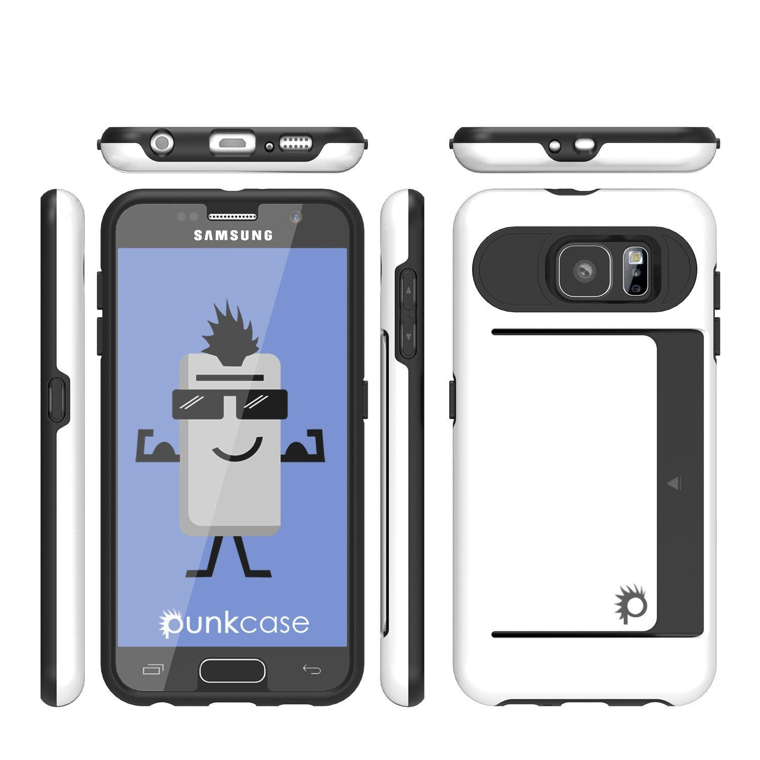 Galaxy S6 EDGE Plus Case PunkCase CLUTCH White Series Slim Armor Soft Cover Case w/ Screen Protector - PunkCase NZ