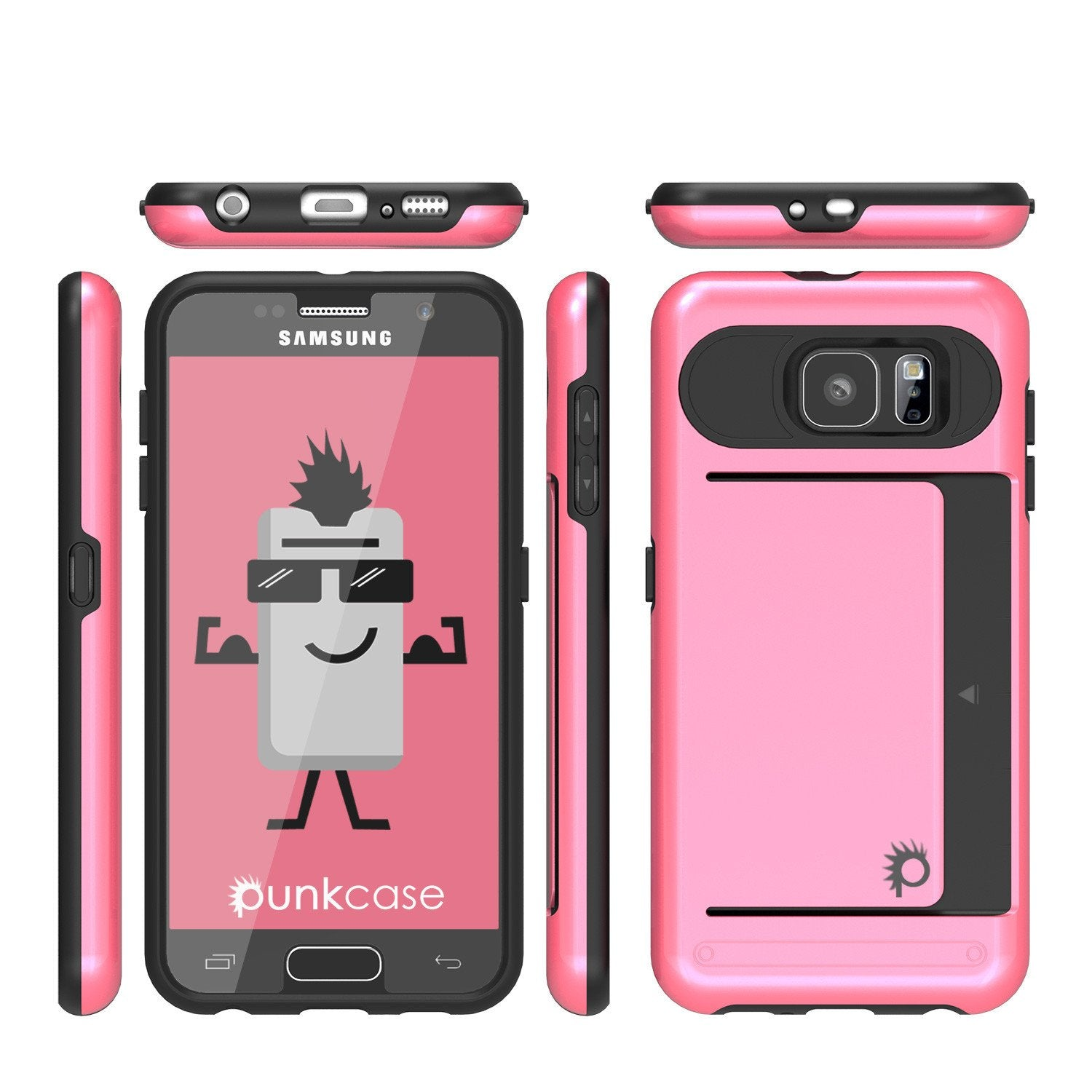 Galaxy S6 EDGE Case PunkCase CLUTCH Pink Series Slim Armor Soft Cover Case w/ Screen Protector - PunkCase NZ