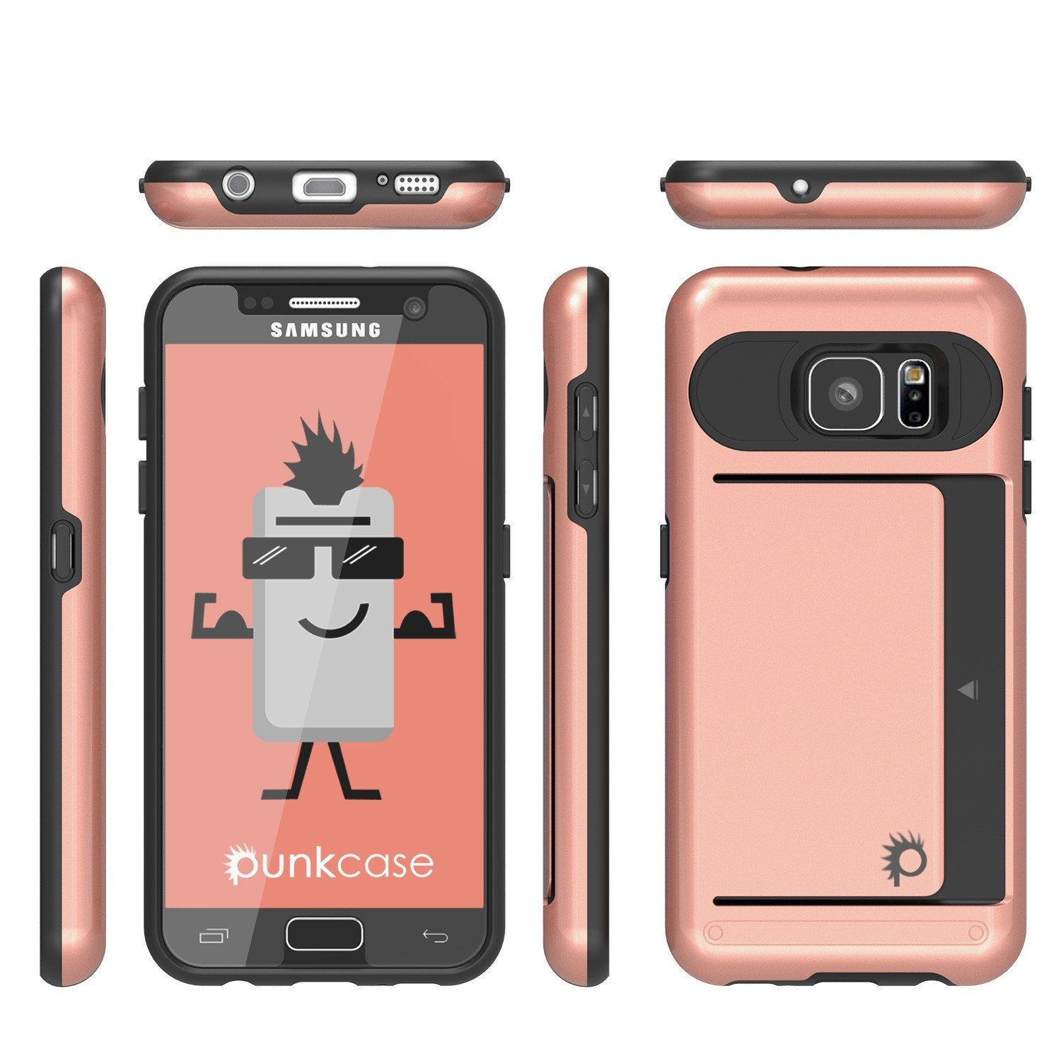 Galaxy S7 EDGE Case PunkCase CLUTCH Rose Gold Series Slim Armor Soft Cover Case w/ Screen Protector - PunkCase NZ