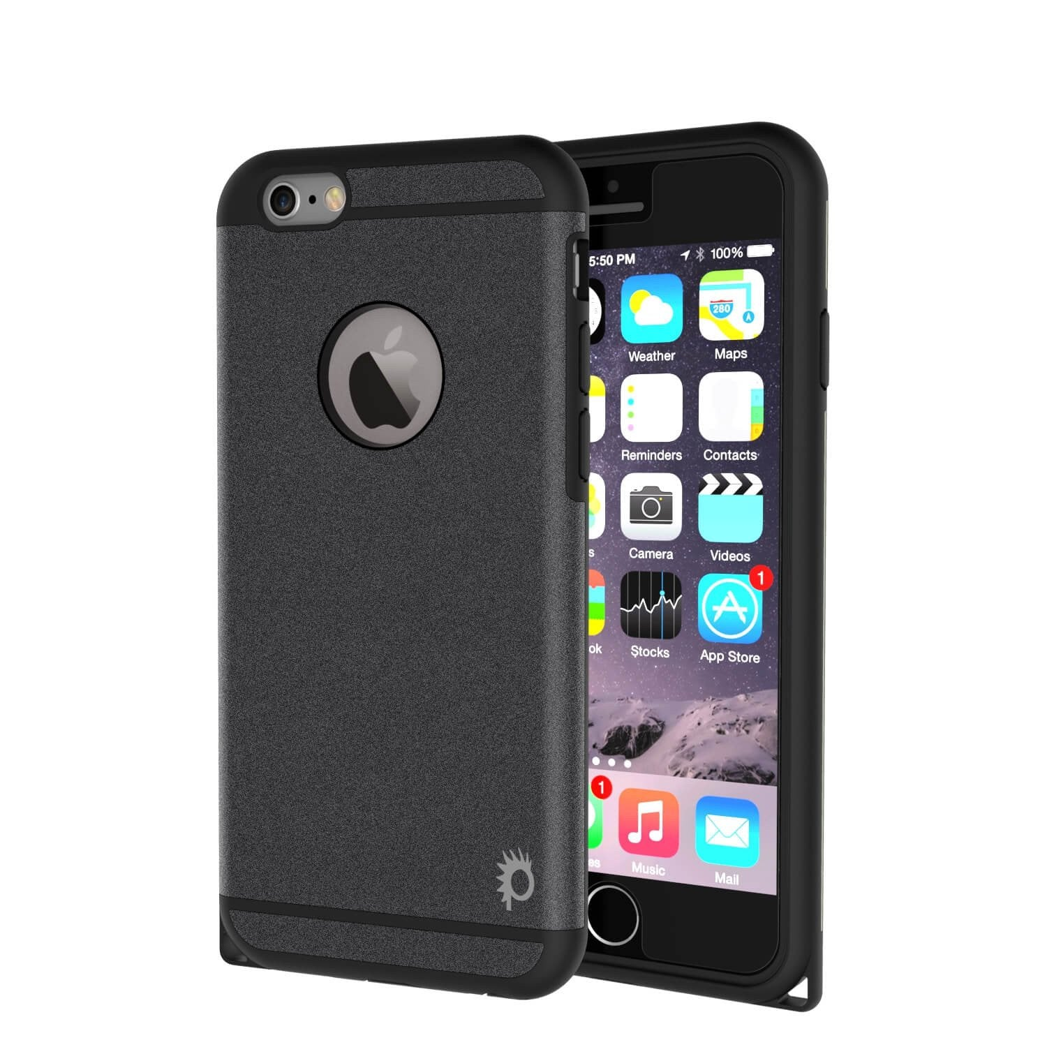 iPhone 6s Plus/6 Plus  Case PunkCase Galactic Black Slim w/ Tempered Glass | Lifetime Warranty - PunkCase NZ