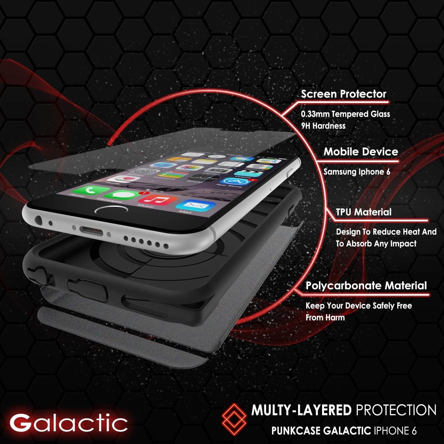 iPhone 5s/5/SE Case PunkCase Galactic Black Series Slim w/ Tempered Glass | Lifetime Warranty - PunkCase NZ