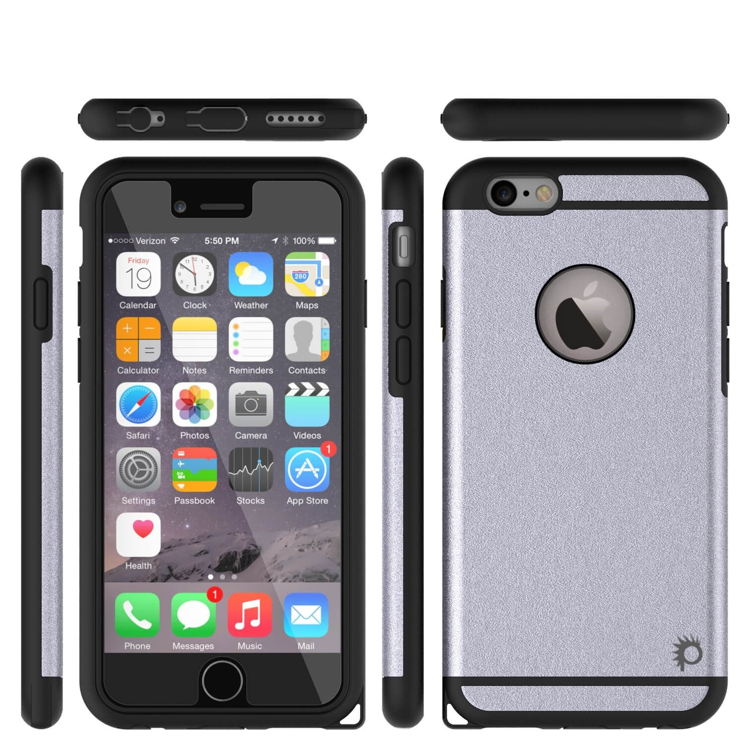 iPhone 6s Plus/6 Plus  Case PunkCase Galactic Silver Slim w/ Tempered Glass | Lifetime Warranty - PunkCase NZ