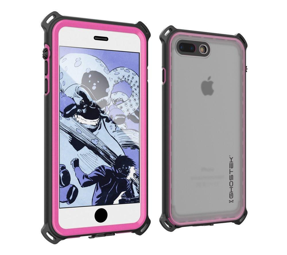 iPhone 8+ Plus Waterproof Case, Ghostek Nautical Series for iPhone 8+ Plus | Slim Underwater Protection | Adventure Duty | Swimming (Pink)