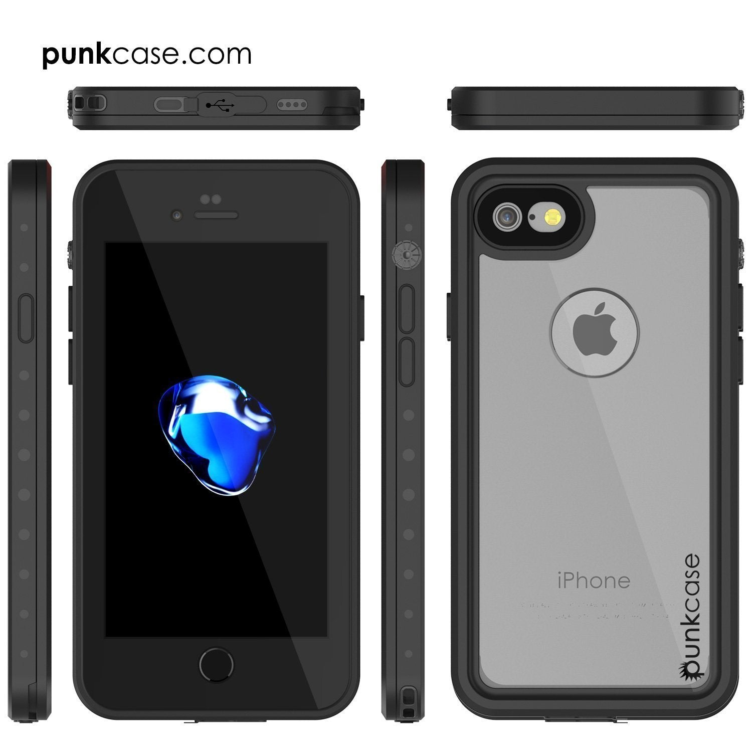 iPhone 8 Waterproof Case, Punkcase [Clear] [StudStar Series] [Slim Fit] [IP68 Certified][Dirtproof] [Snowproof] - PunkCase NZ