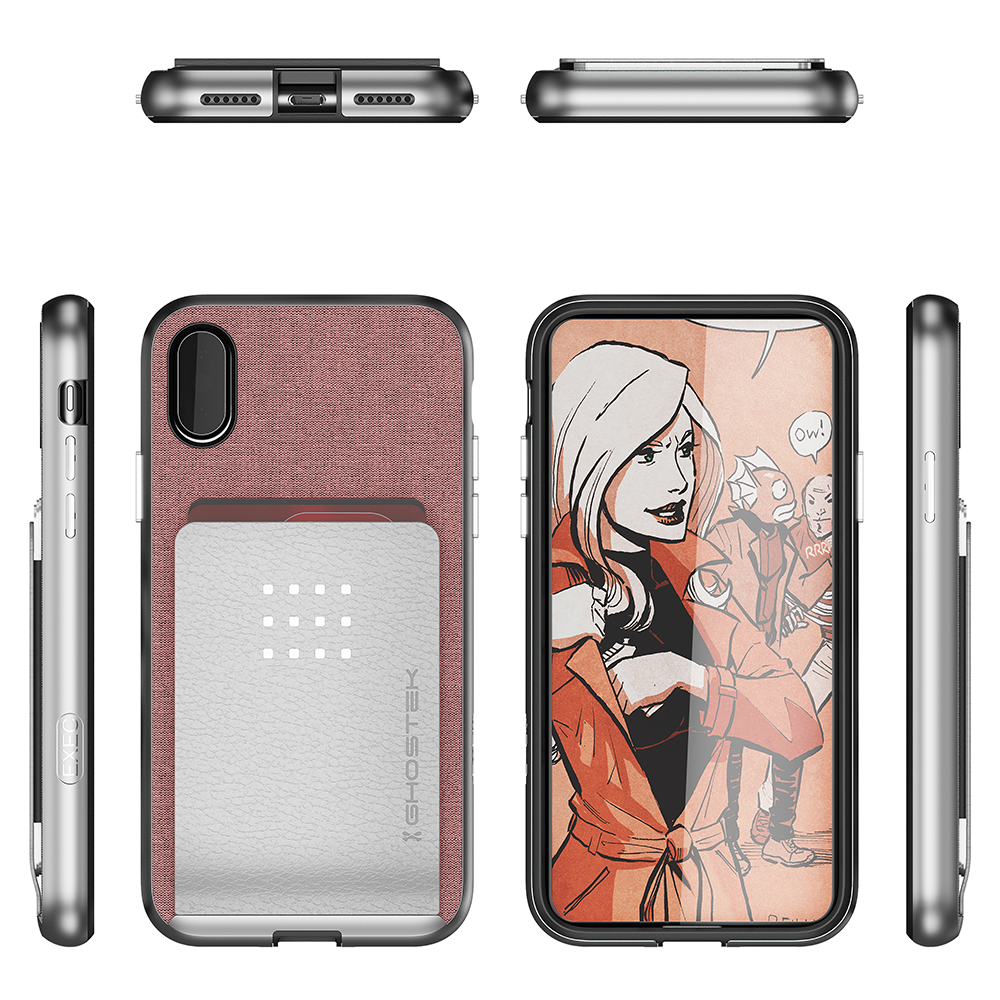 iPhone 8/7 Case, Ghostek Exec 2 Series for iPhone 8/7 Protective Wallet Case [Rose Pink] - PunkCase NZ