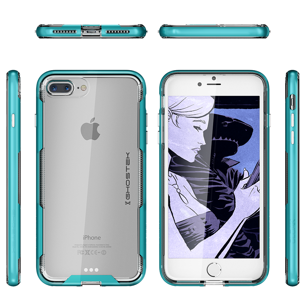 iPhone 7+ Plus Case, Ghostek Cloak 3 Series  for iPhone 7+ Plus  Case [TEAL] - PunkCase NZ