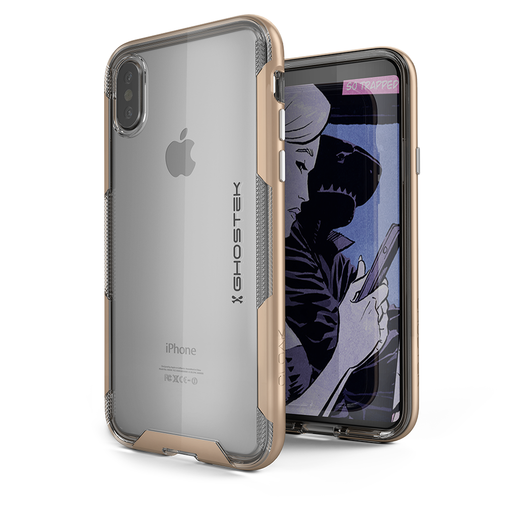 iPhone X Case, Ghostek Cloak 3 Series  for iPhone X / iPhone Pro Case | GOLD - PunkCase NZ