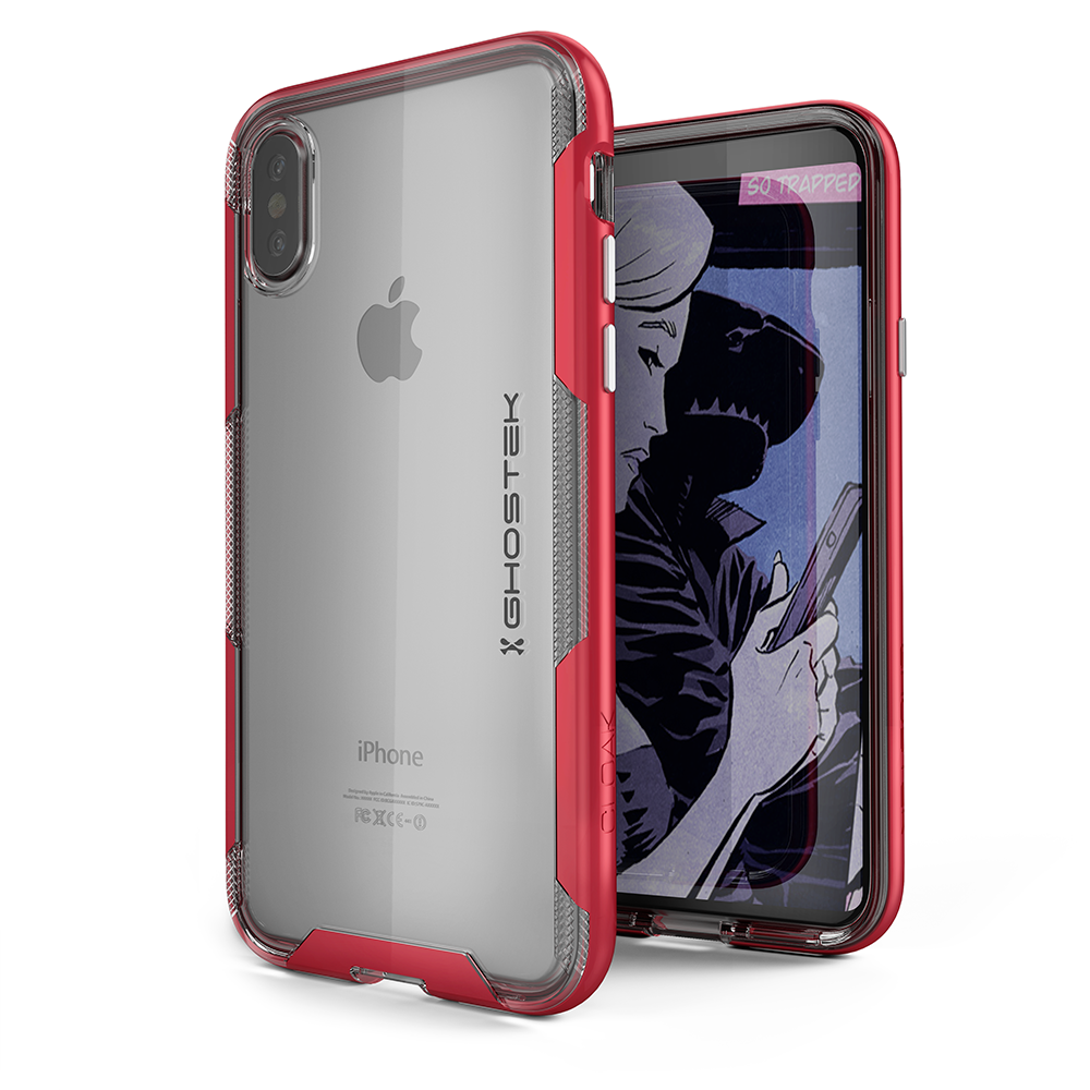 iPhone X Case, Ghostek Cloak 3 Series  for iPhone X / iPhone Pro Case | RED