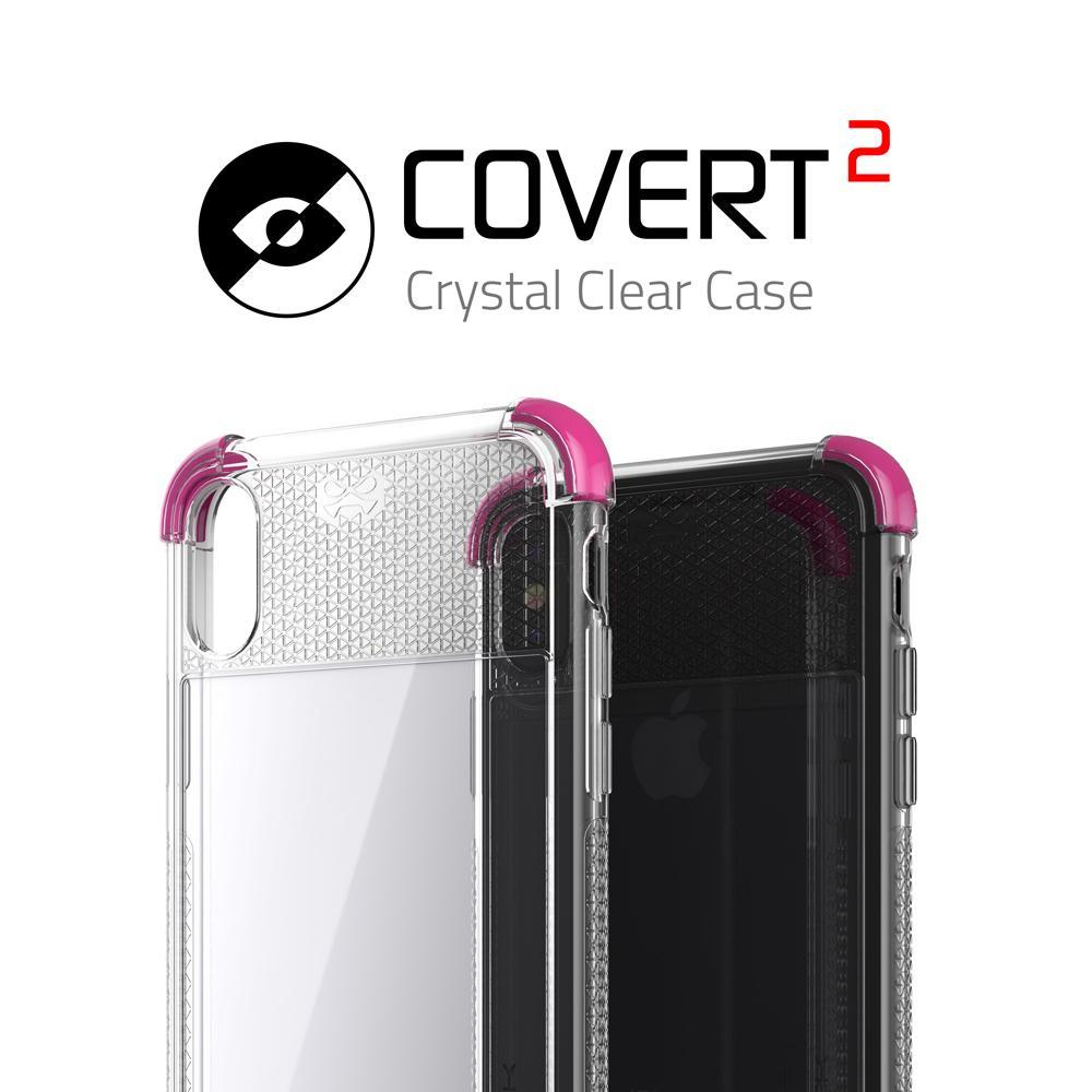 iPhone X Case, Ghostek Covert 2 Series for iPhone X / iPhone Pro Clear Protective Case [PINK] - PunkCase NZ