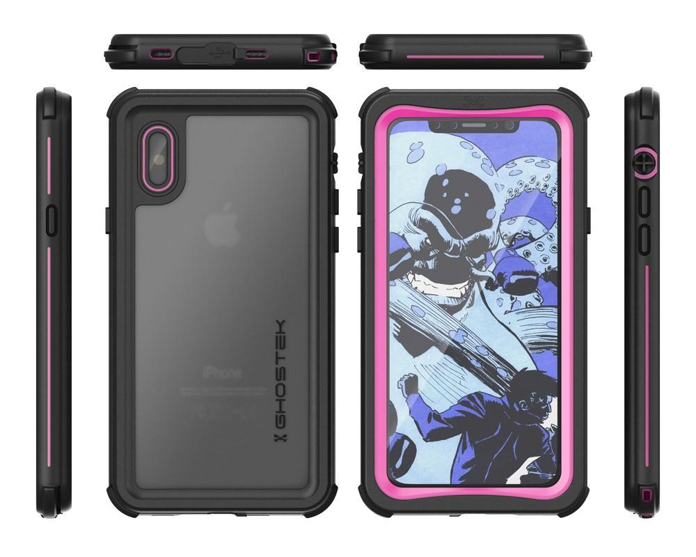 iPhone X  Case ,Ghostek Nautical Series  for iPhone X Rugged Heavy Duty Case | PINK - PunkCase NZ