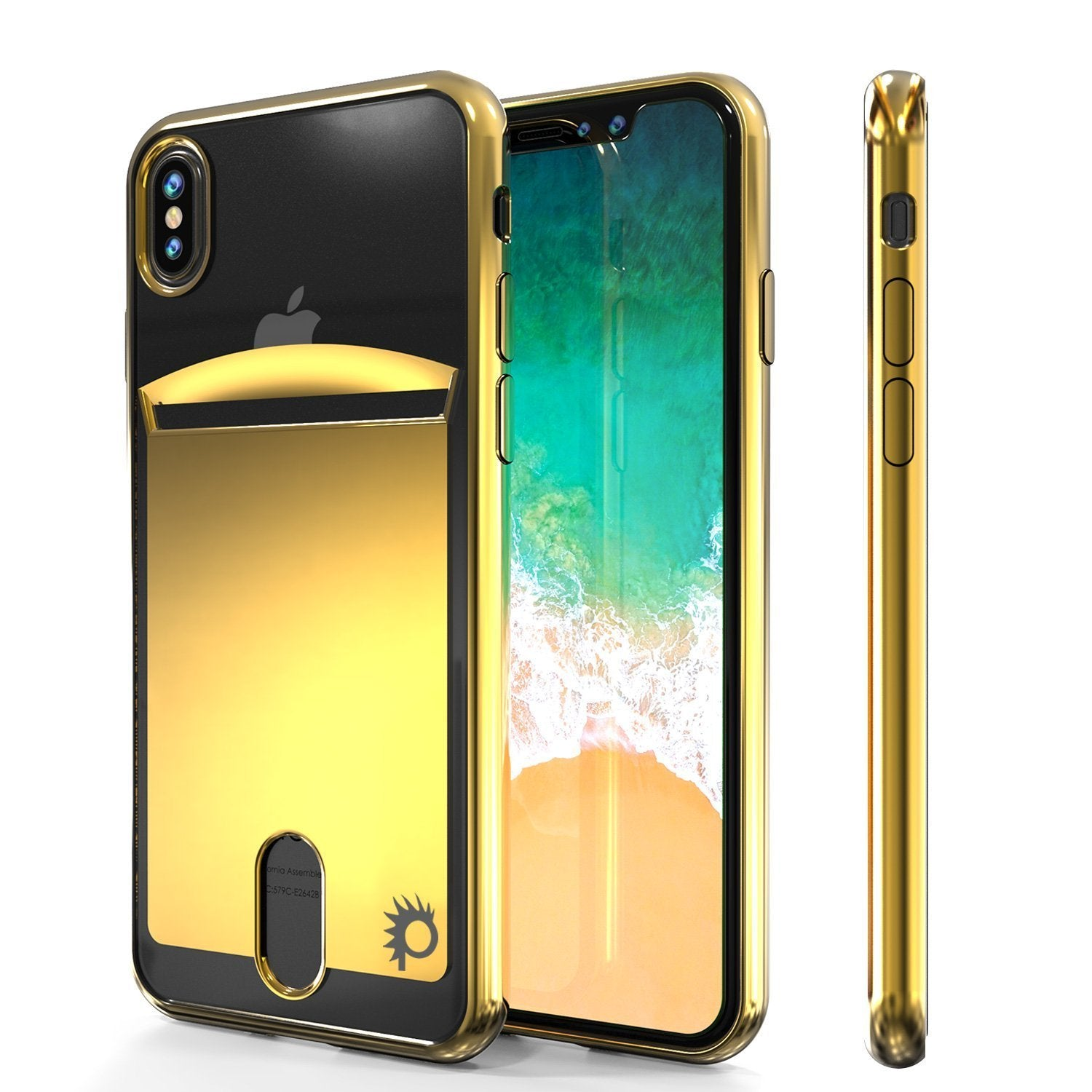 iPhone X Case, PUNKcase [LUCID Series] Slim Fit Protective Dual Layer Armor Cover [Gold]