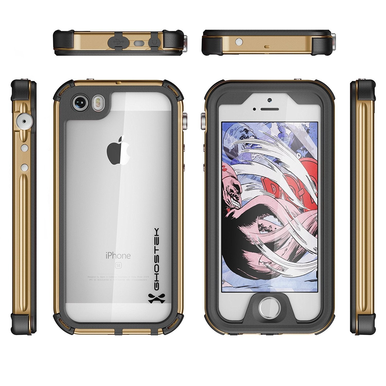 iPhone 7 Waterproof Case, Ghostek® Atomic 3.0 Gold Series - PunkCase NZ