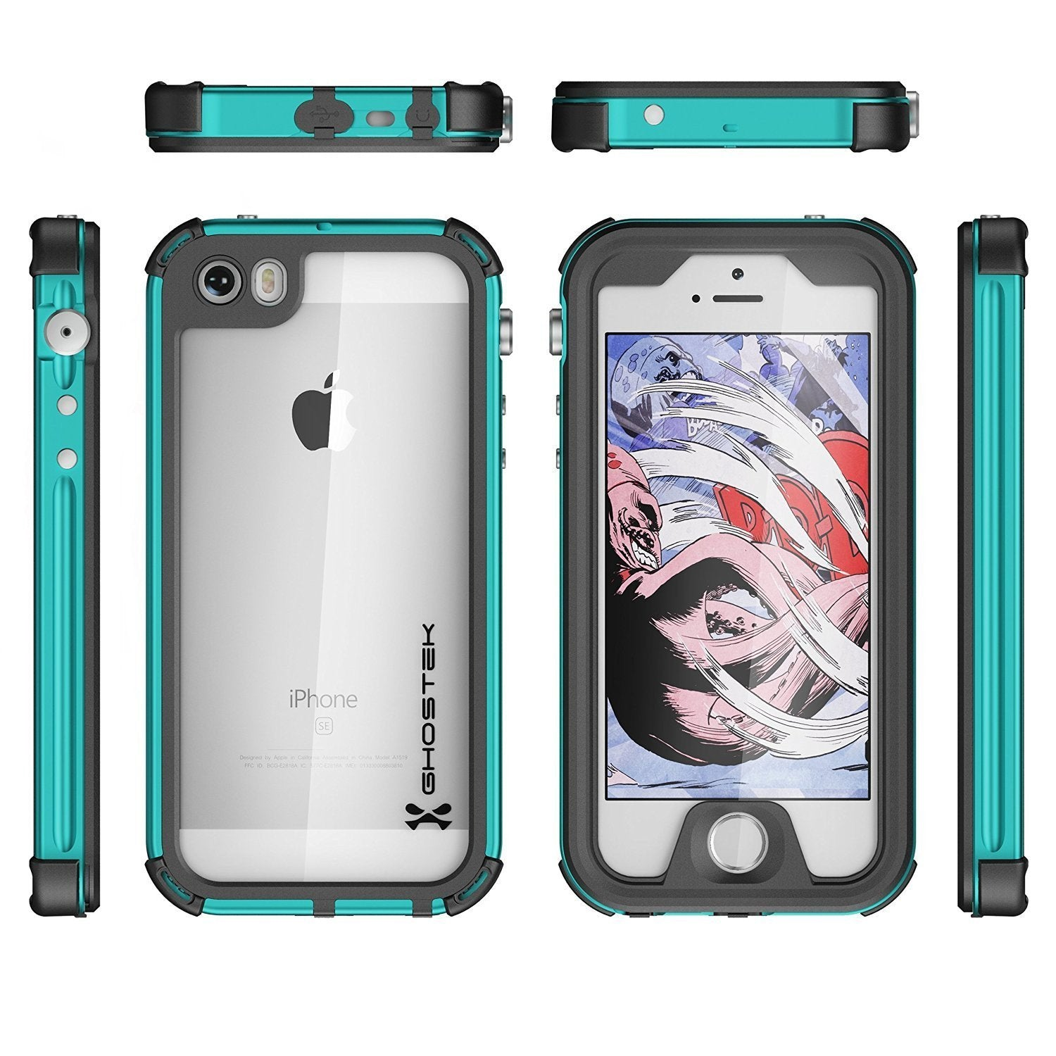 iPhone 8 Waterproof Case, Ghostek® Atomic 3.0 Teal Series - PunkCase NZ