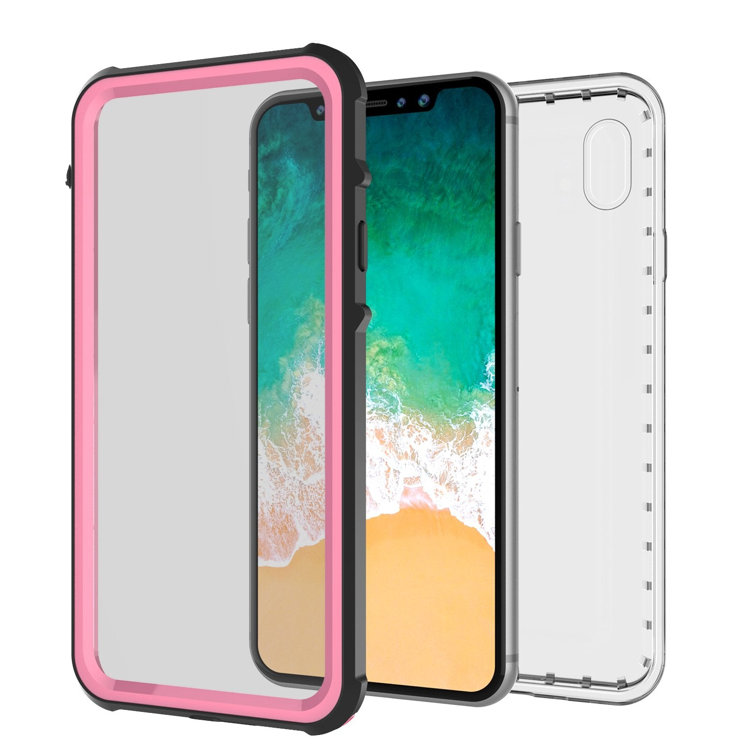 iPhone X Case, PUNKCase [CRYSTAL SERIES] Protective IP68 Certified Cover [Pink] - PunkCase NZ