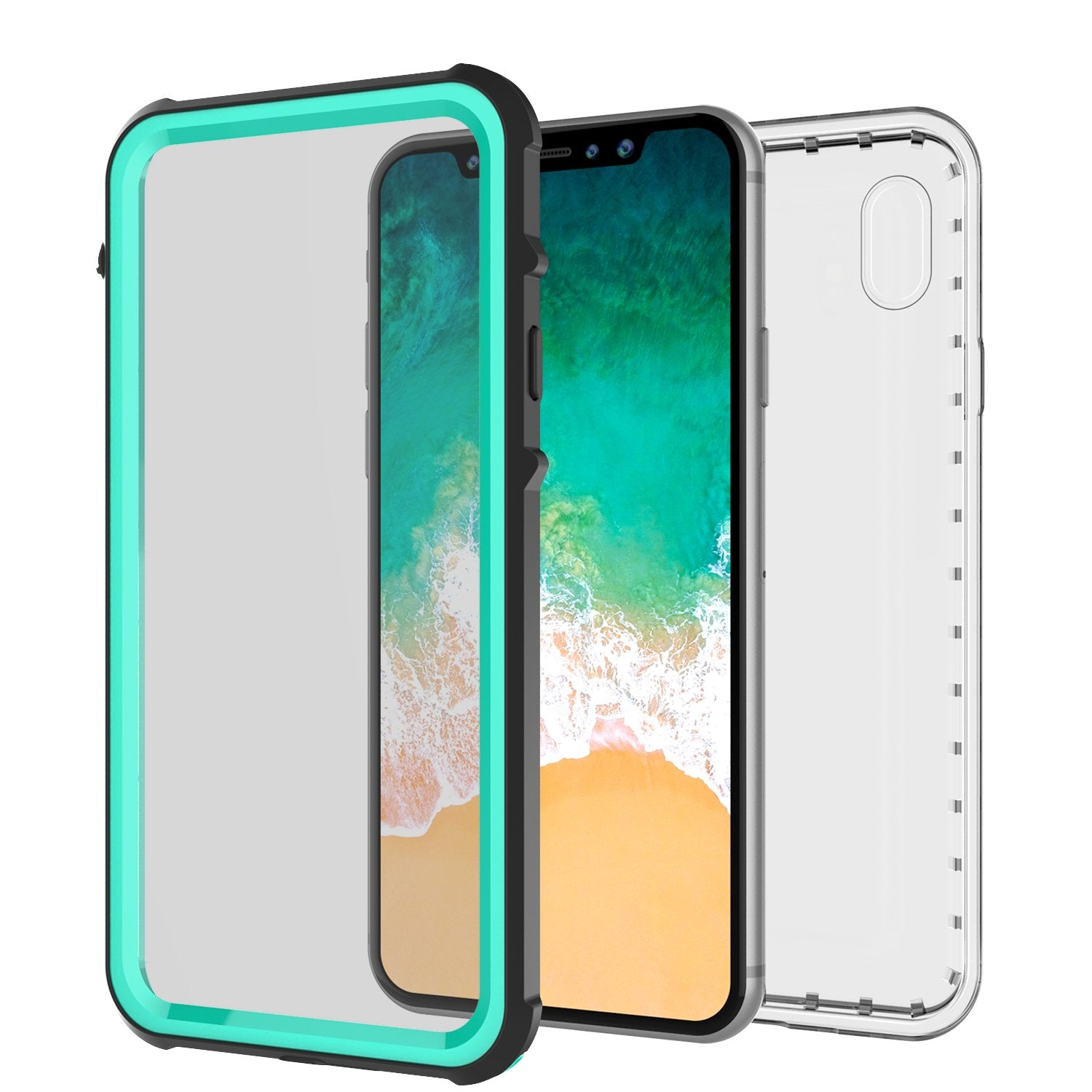 iPhone X Case, PUNKCase [CRYSTAL SERIES] Protective IP68 Certified, Ultra Slim Fit [TEAL] - PunkCase NZ