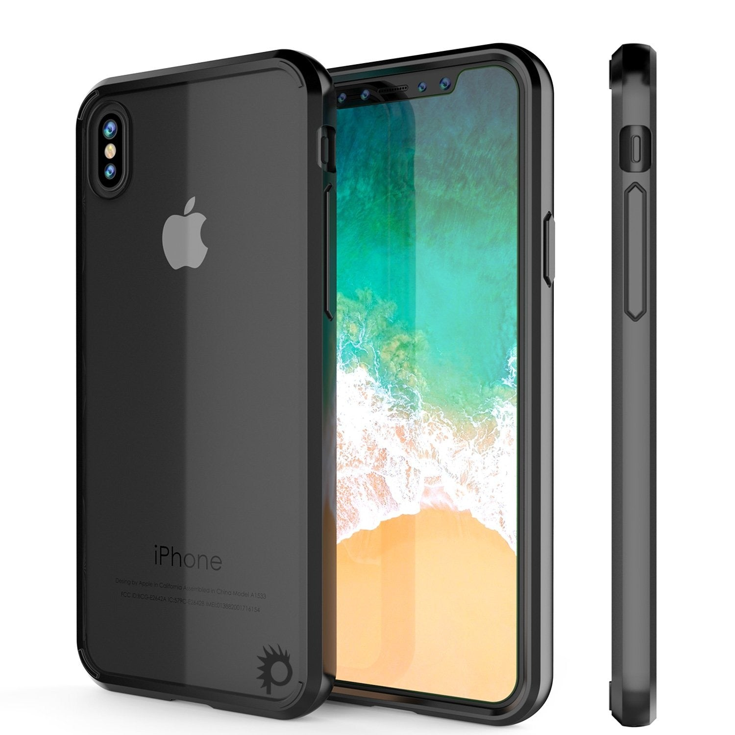 iPhone X Case, PUNKcase [LUCID 2.0 Series] [Slim Fit] Armor Cover W/Integrated Anti-Shock System [Black] - PunkCase NZ