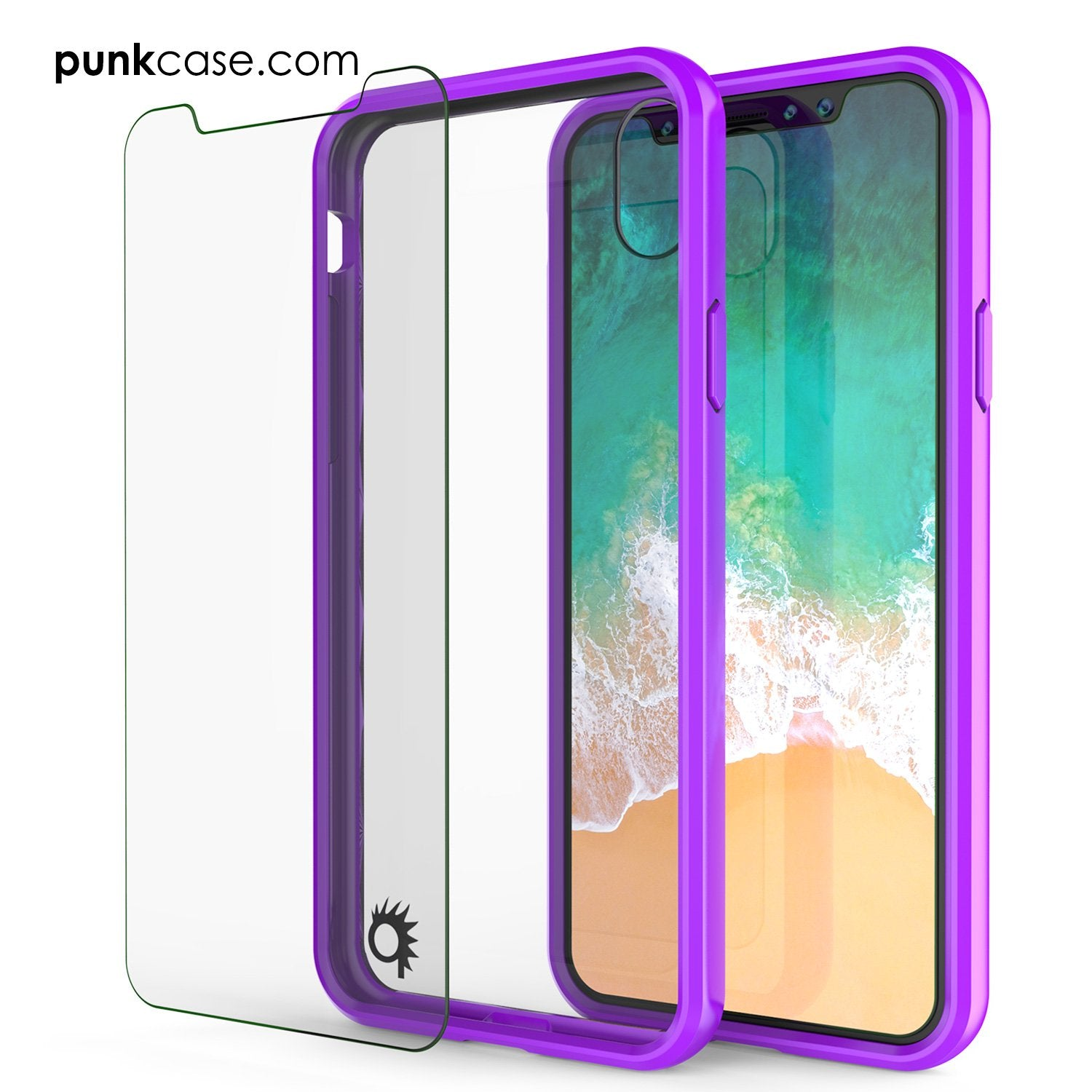 iPhone X Case, PUNKcase [LUCID 2.0 Series] [Slim Fit] Armor Cover W/Integrated Anti-Shock System [Purple] - PunkCase NZ