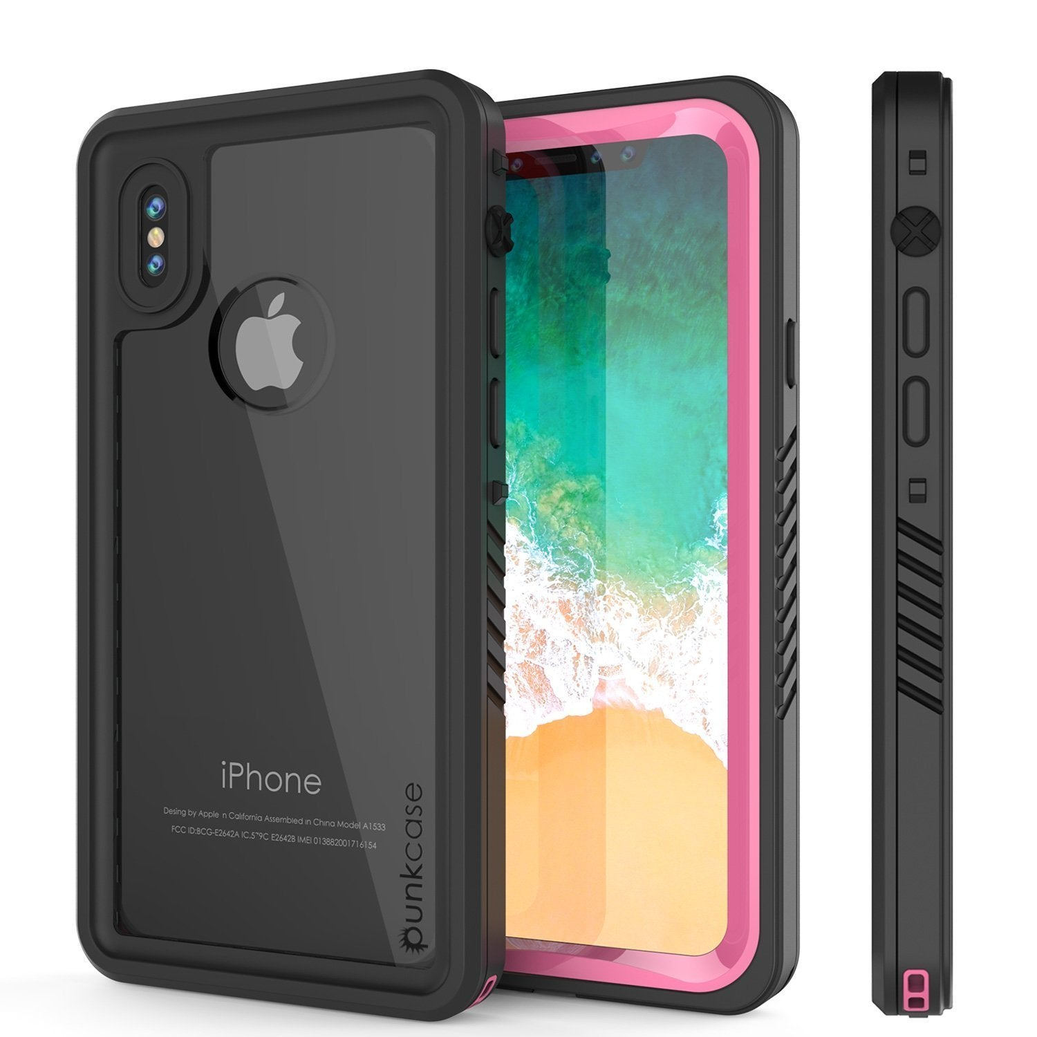 iPhone XS Max Waterproof Case, Punkcase [Extreme Series] Armor Cover W/ Built In Screen Protector [Pink]