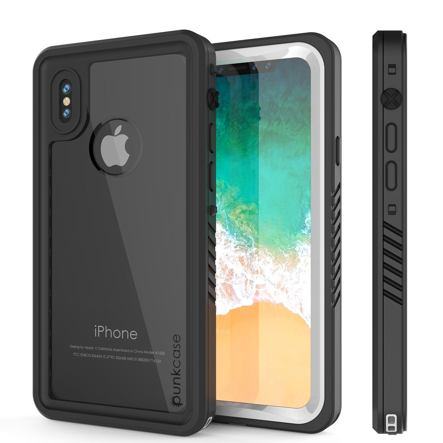 iPhone XS Max Waterproof Case, Punkcase [Extreme Series] Armor Cover W/ Built In Screen Protector [White]