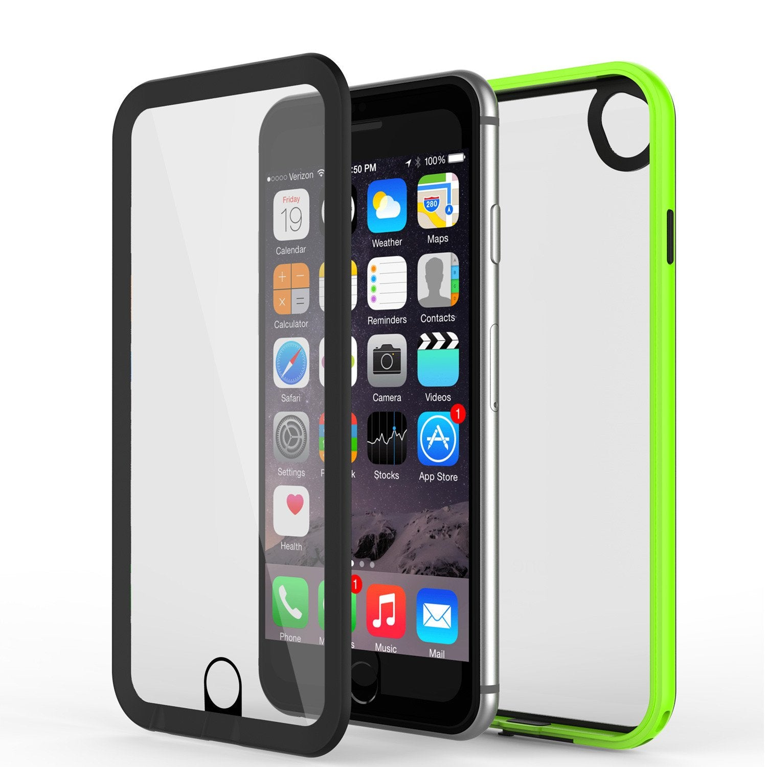 Apple iPhone 7 Waterproof Case, PUNKcase CRYSTAL 2.0 Light Green  W/ Attached Screen Protector  | Warranty - PunkCase NZ