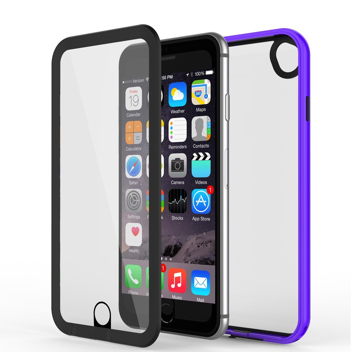 Apple iPhone 8 Waterproof Case, PUNKcase CRYSTAL 2.0 Purple W/ Attached Screen Protector  | Warranty - PunkCase NZ