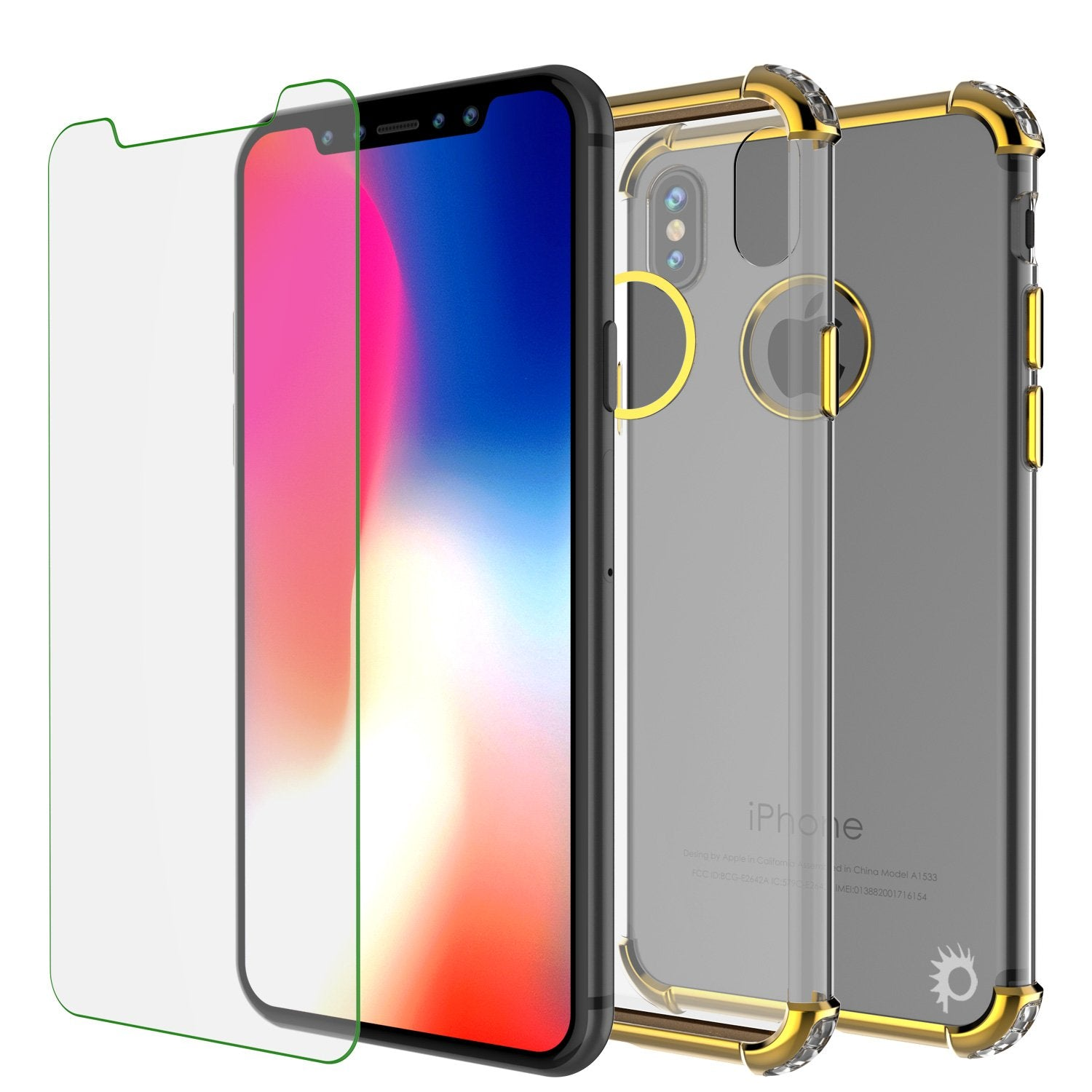 iPhone X Case, Punkcase [BLAZE SERIES] Protective Cover W/ PunkShield Screen Protector [Shockproof] [Slim Fit] for Apple iPhone 10 [Gold] - PunkCase NZ