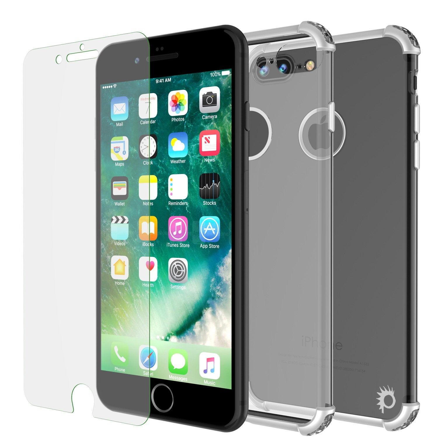 iPhone 8 PLUS Case, Punkcase [BLAZE SERIES] Protective Cover W/ PunkShield Screen Protector [Shockproof] [Slim Fit] for Apple iPhone 7/8/6/6s PLUS [Silver] - PunkCase NZ
