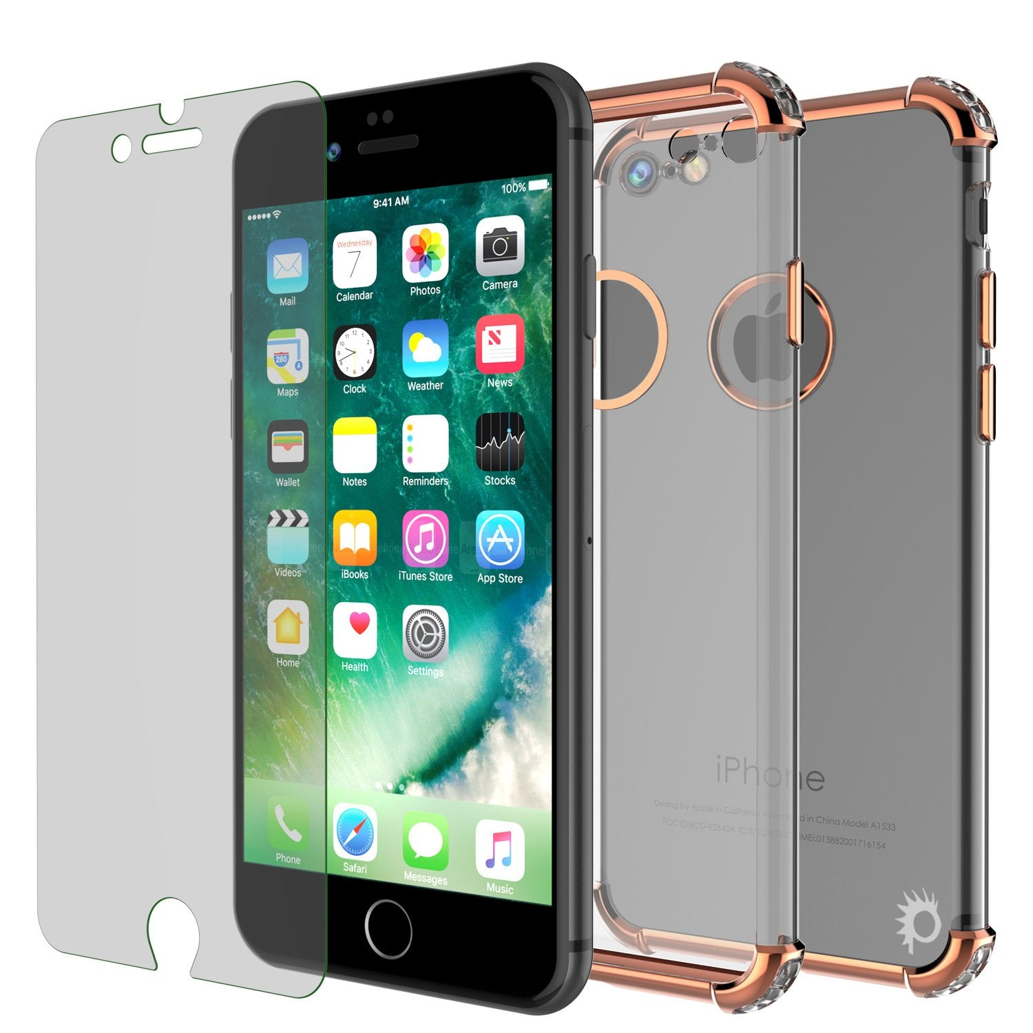 iPhone 7 Case, Punkcase [BLAZE SERIES] Protective Cover W/ PunkShield Screen Protector [Shockproof] [Slim Fit] for Apple iPhone [RoseGold] - PunkCase NZ