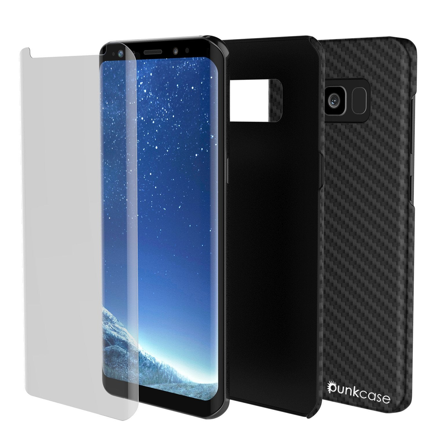Galaxy S8 Plus Case, PunkCase CarbonShield, Jet Black - PunkCase NZ