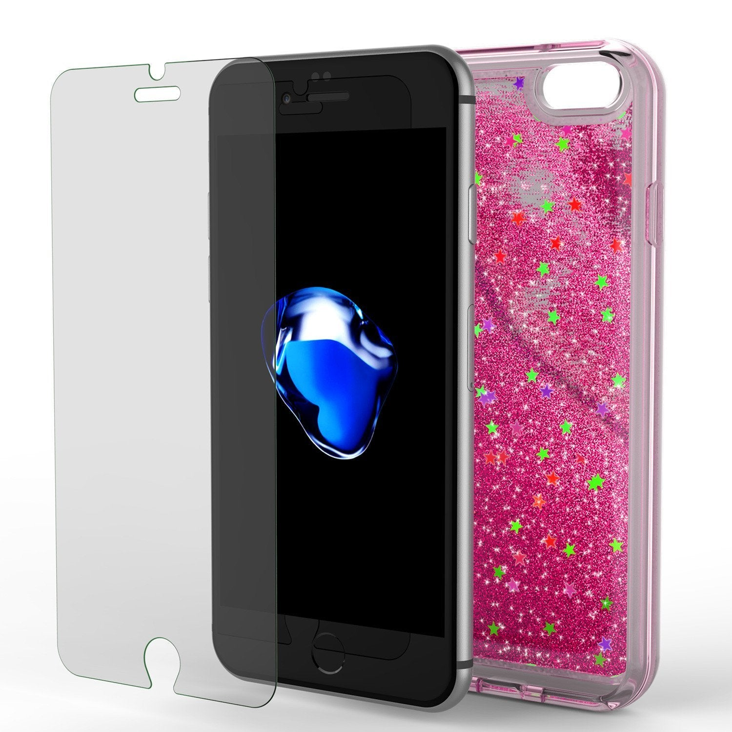 iPhone 8 Case, PunkCase LIQUID Pink Series, Protective Dual Layer Floating Glitter Cover - PunkCase NZ
