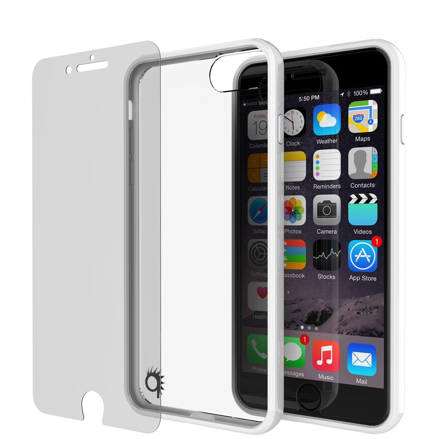 iPhone 7 Case Punkcase® LUCID 2.0 White Series w/ PUNK SHIELD Screen Protector | Ultra Fit - PunkCase NZ