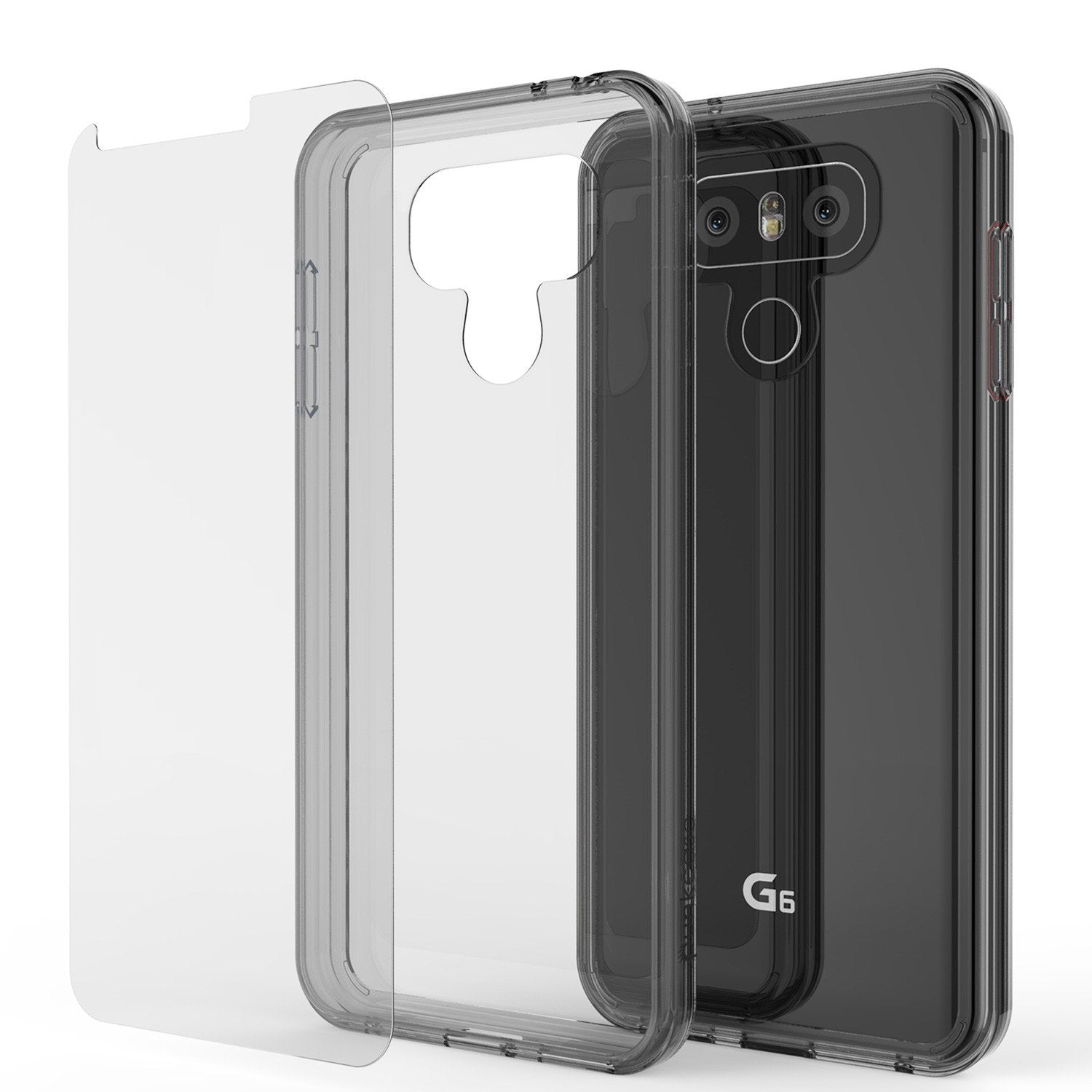 LG G6 Case Punkcase® LUCID 2.0 Crystal Black Series w/ PUNK SHIELD Screen Protector | Ultra Fit - PunkCase NZ