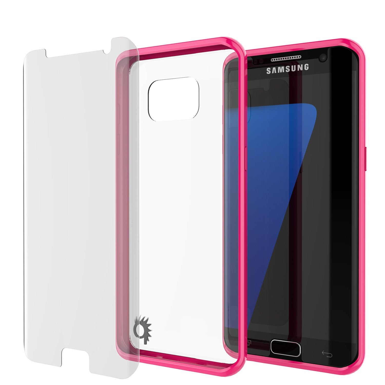 S7 Edge Case Punkcase® LUCID 2.0 Pink Series w/ PUNK SHIELD Screen Protector | Ultra Fit - PunkCase NZ