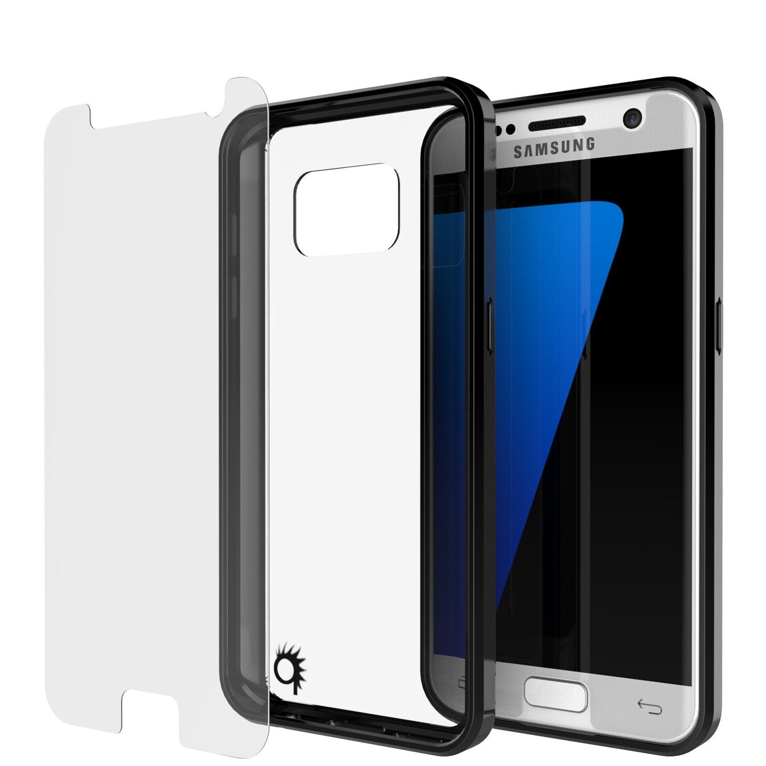 S7 Case Punkcase® LUCID 2.0 Black Series w/ PUNK SHIELD Glass Screen Protector | Ultra Fit - PunkCase NZ