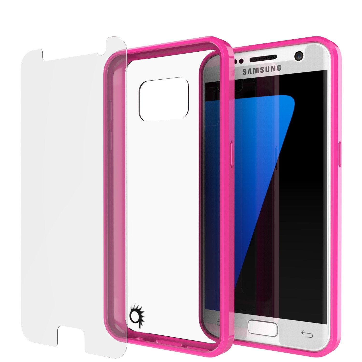 S7 Case Punkcase® LUCID 2.0 Pink Series w/ PUNK SHIELD Glass Screen Protector | Ultra Fit - PunkCase NZ