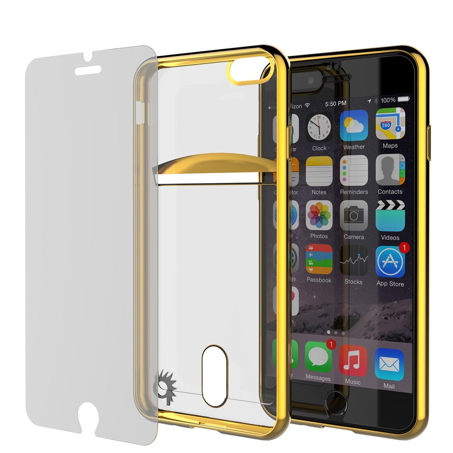 iPhone 8+ Plus Case, PUNKCASE® LUCID Gold Series | Card Slot | SHIELD Screen Protector | Ultra fit - PunkCase NZ