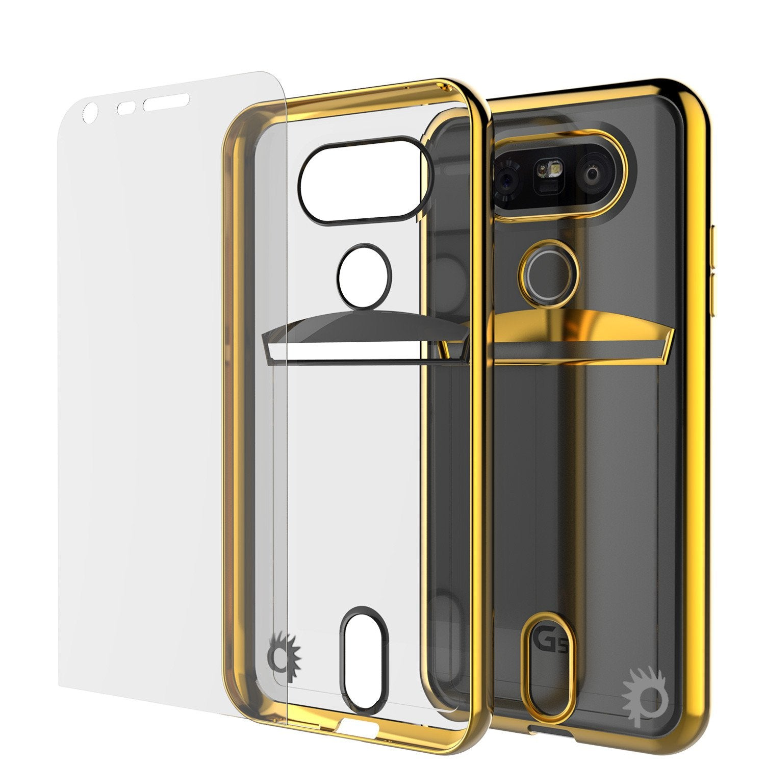 LG G5 Case, PUNKCASE® Gold LUCID Series | Card Slot | PUNK SHIELD Screen Protector | Ultra Fit - PunkCase NZ