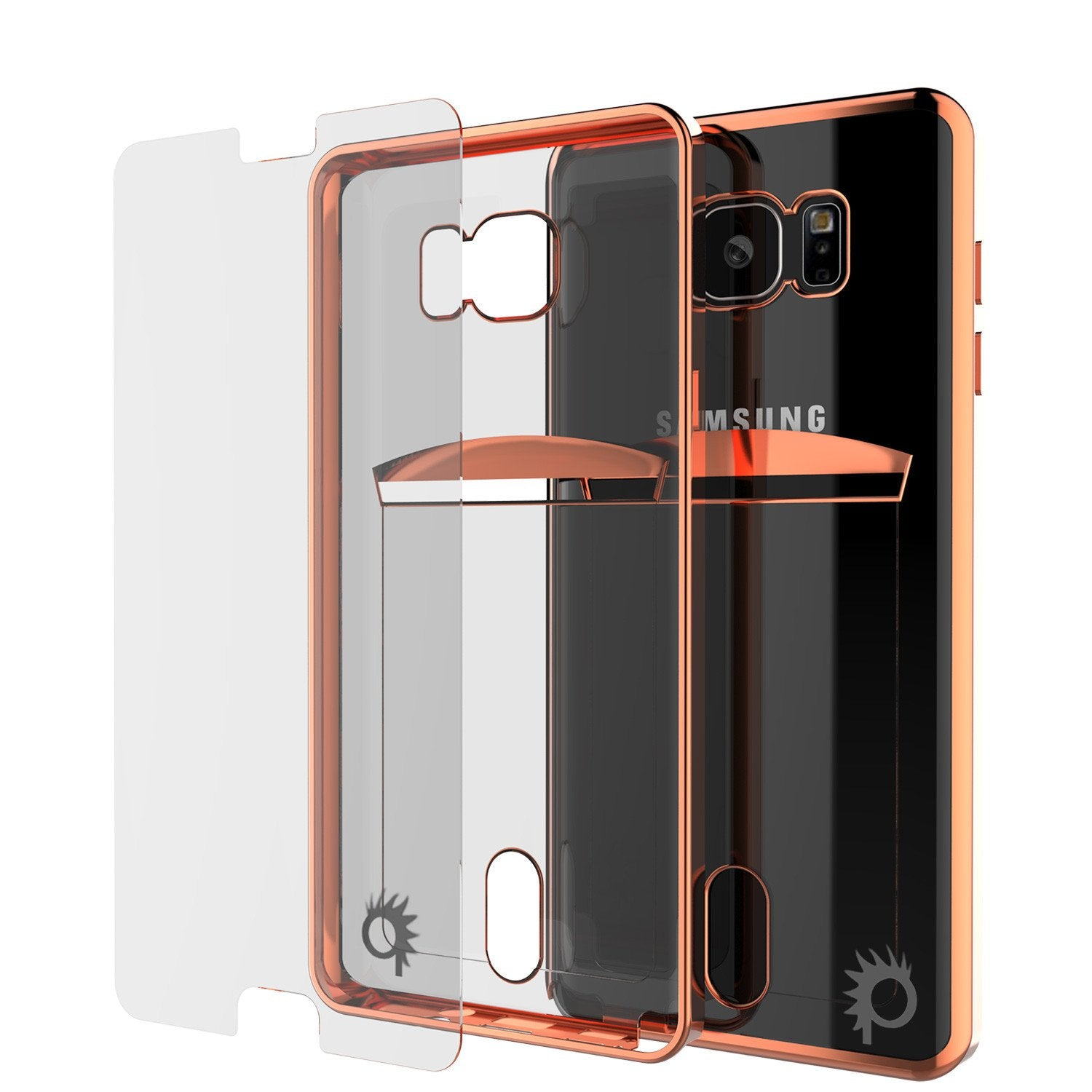 Galaxy Note 5 Case, PUNKCASE® LUCID Rose Gold Series | Card Slot | SHIELD Screen Protector