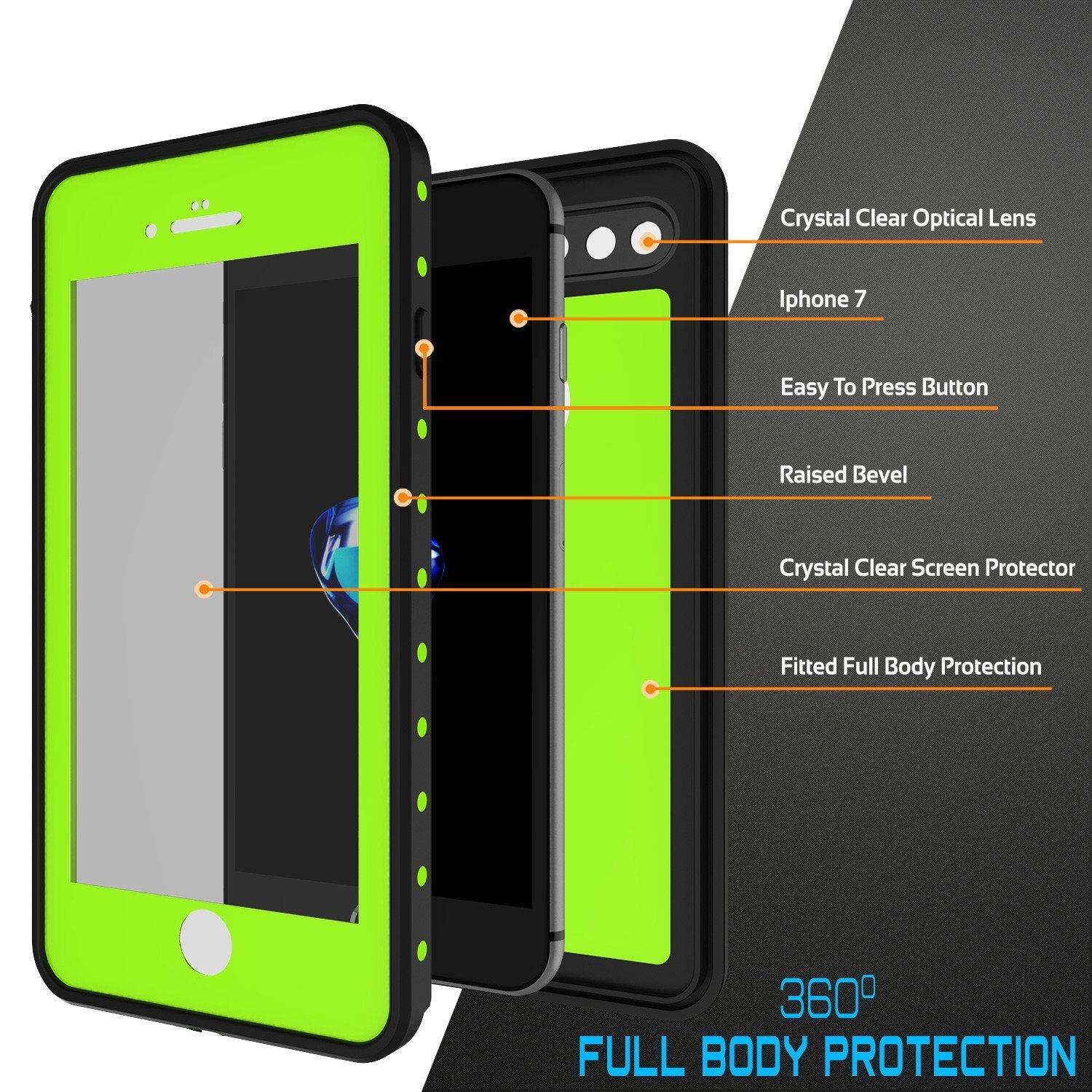 iPhone 8+ Plus Waterproof IP68 Case, Punkcase [Light Green] [StudStar Series] [Slim Fit] [Dirtproof] - PunkCase NZ