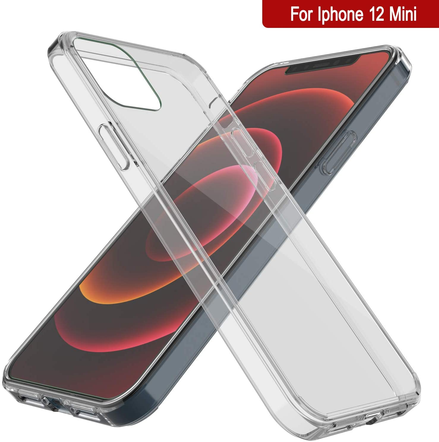 iPhone 12 Mini Case Punkcase® LUCID 2.0 Clear Series Series w/ PUNK SHIELD Screen Protector | Ultra Fit