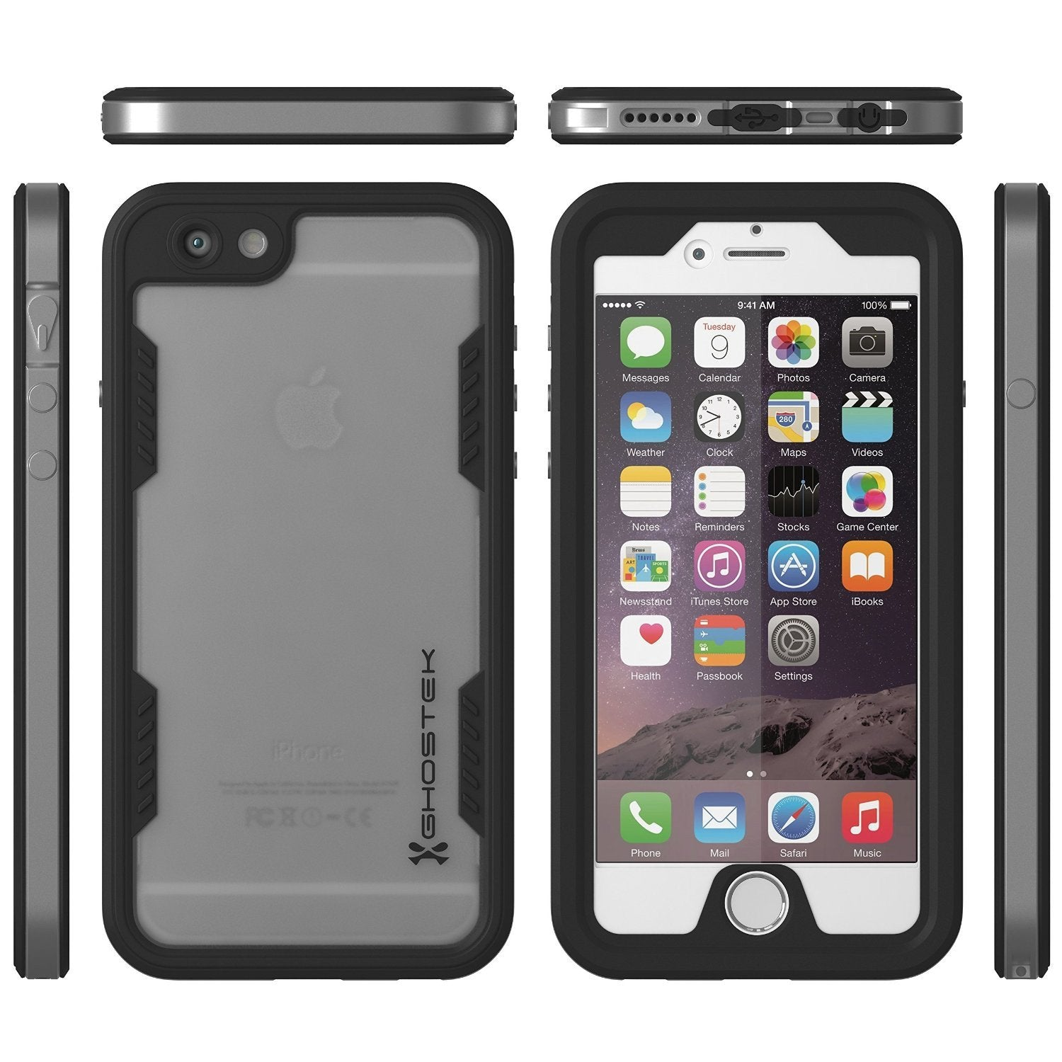iPhone 6/6S Waterproof Case, Ghostek Atomic 2.0 SILVER W/ Attached Screen Protector | Slim Fit - PunkCase NZ
