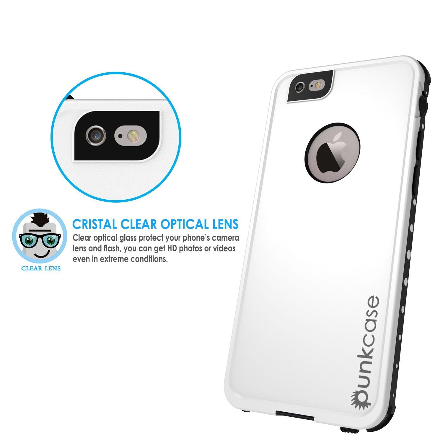 iPhone 6s/6 Waterproof Case PunkCase StudStar White w/ Attached Screen Protector | Lifetime Warranty - PunkCase NZ