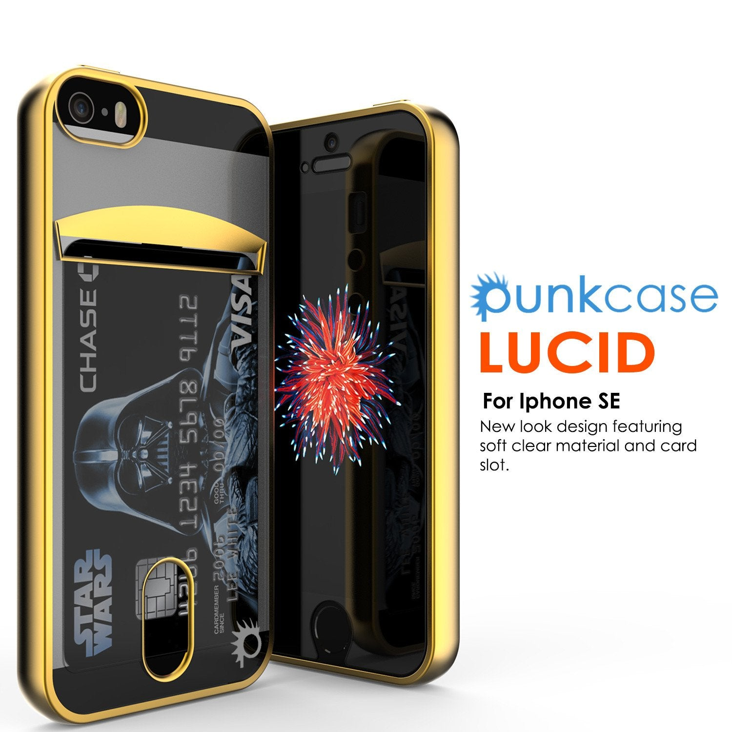 iPhone SE/5S/5 Case, PUNKCASE® LUCID Gold Series | Card Slot | SHIELD Screen Protector | Ultra fit - PunkCase NZ