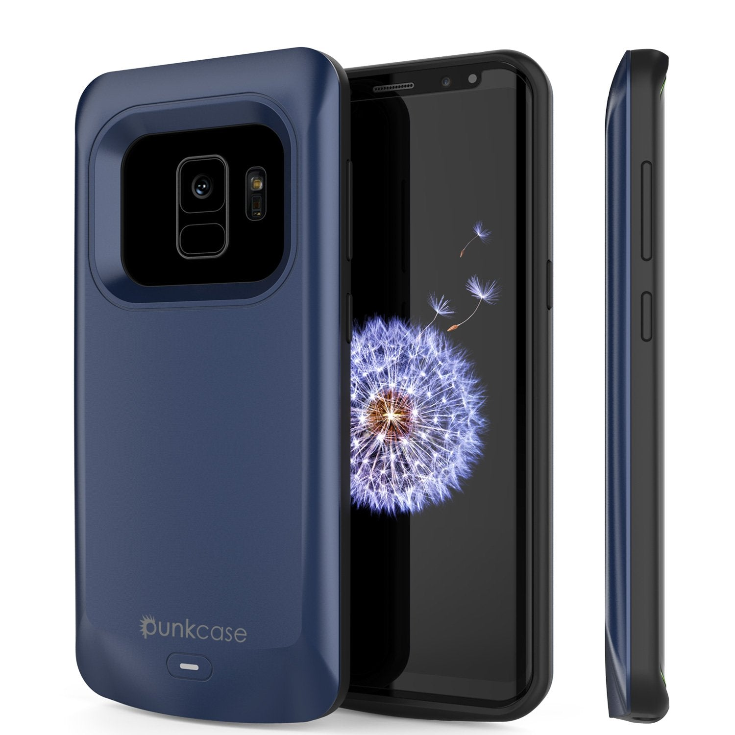 Galaxy S9 Battery Case, PunkJuice 5000mAH Fast Charging Power Bank W/ Screen Protector | Integrated USB Port | IntelSwitch | Slim, Secure and Reliable | Suitable for Samsung Galaxy S9 [Navy]
