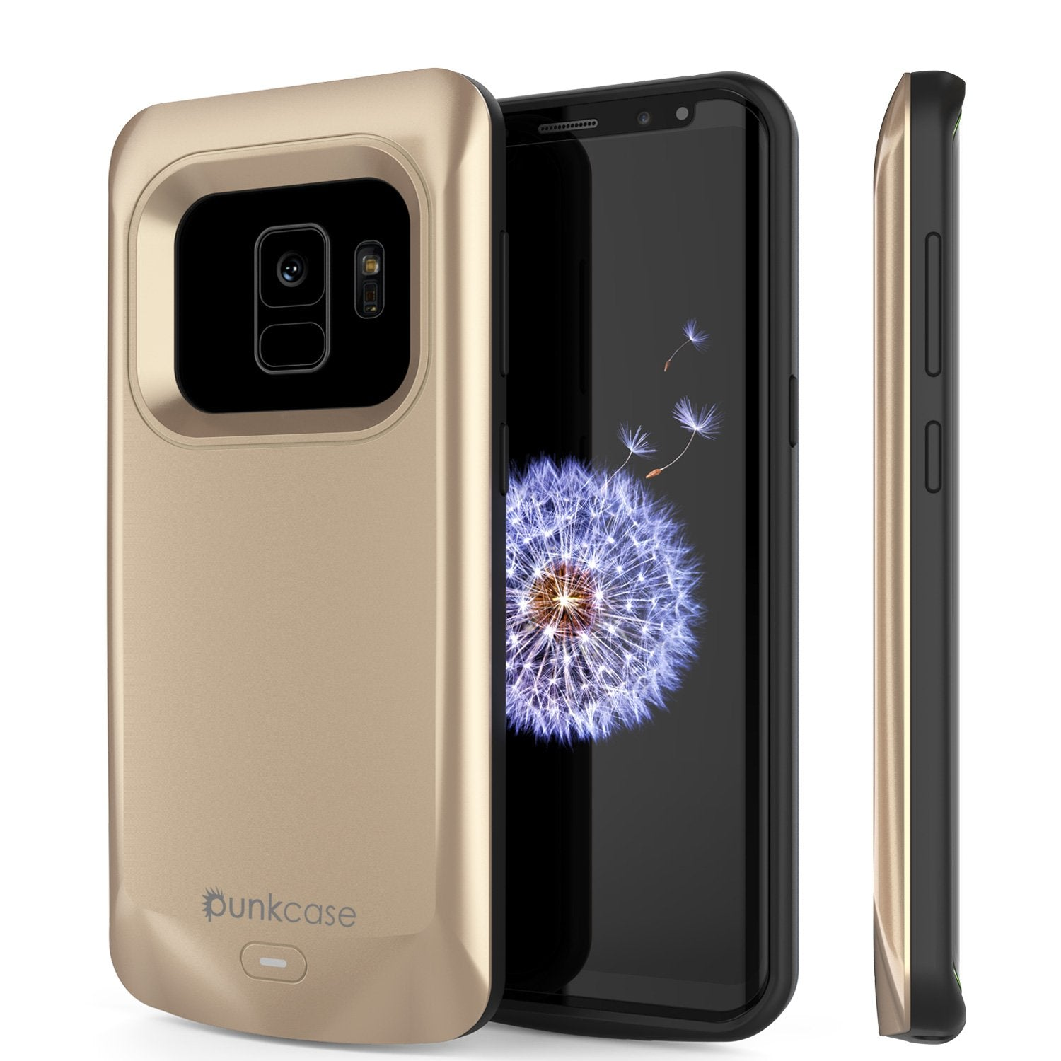 Galaxy S9 Battery Case, PunkJuice 5000mAH Fast Charging Power Bank W/ Screen Protector | Integrated USB Port | IntelSwitch | Slim, Secure and Reliable | Suitable for Samsung Galaxy S9 [Gold]