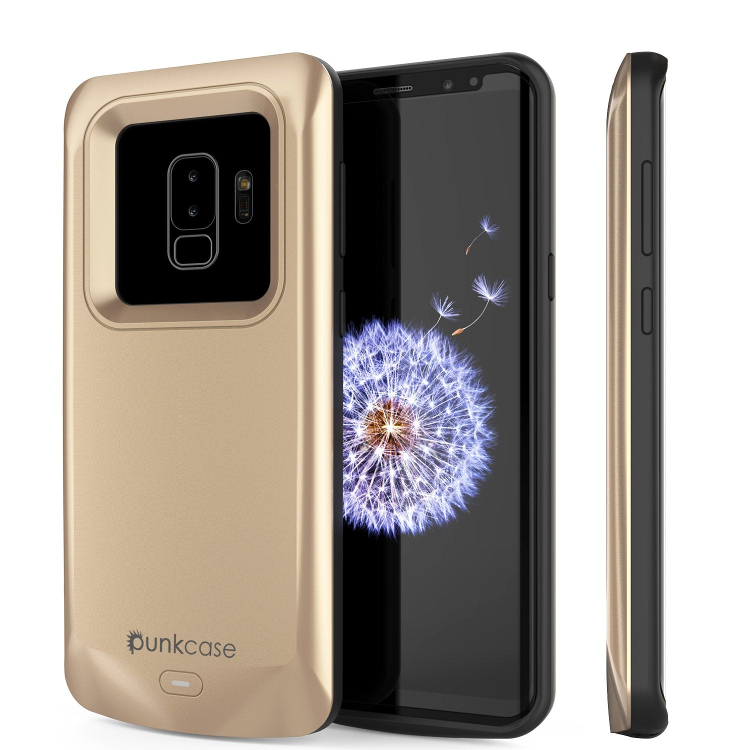 Galaxy S9 PLUS Battery Case, PunkJuice 5000mAH Fast Charging Power Bank W/ Screen Protector | Integrated USB Port | IntelSwitch | Slim, Secure and Reliable | Suitable for Samsung Galaxy S9+ [Gold]